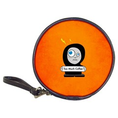 Orange Funny Too Much Coffee Cd Wallet