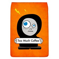 Orange Funny Too Much Coffee Removable Flap Cover (large)