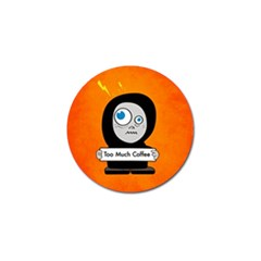 Orange Funny Too Much Coffee Golf Ball Marker 10 Pack