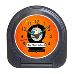 Orange Funny Too Much Coffee Desk Alarm Clock
