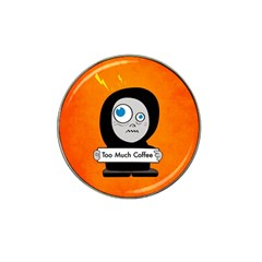 Orange Funny Too Much Coffee Golf Ball Marker 4 Pack (for Hat Clip) by CreaturesStore