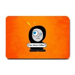 Orange Funny Too Much Coffee Small Door Mat by CreaturesStore