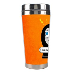 Orange Funny Too Much Coffee Stainless Steel Travel Tumbler by CreaturesStore