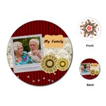 family - Playing Cards (Round)