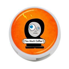 Orange Funny Too Much Coffee 4 Port Usb Hub (two Sides)
