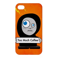 Orange Funny Too Much Coffee Apple Iphone 4/4s Hardshell Case
