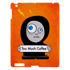 Orange Funny Too Much Coffee Apple Ipad 3/4 Hardshell Case by CreaturesStore