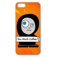 Orange Funny Too Much Coffee Apple Seamless Iphone 5 Case (clear) by CreaturesStore