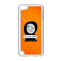Orange Funny Too Much Coffee Apple Ipod Touch 5 Case (white)
