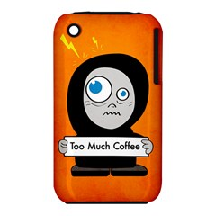 Orange Funny Too Much Coffee Apple Iphone 3g/3gs Hardshell Case (pc+silicone)