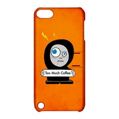 Orange Funny Too Much Coffee Apple Ipod Touch 5 Hardshell Case With Stand