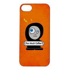 Orange Funny Too Much Coffee Apple Iphone 5s Hardshell Case