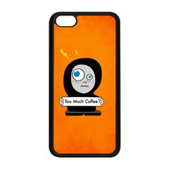 Orange Funny Too Much Coffee Apple Iphone 5c Seamless Case (black) by CreaturesStore