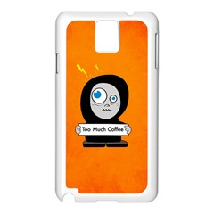 Orange Funny Too Much Coffee Samsung Galaxy Note 3 N9005 Case (white)