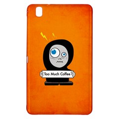 Orange Funny Too Much Coffee Samsung Galaxy Tab Pro 8 4 Hardshell Case by CreaturesStore