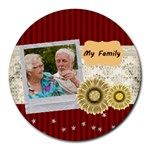 family - Collage Round Mousepad