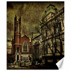 Dark Citiy Canvas 8  X 10  (unframed) by dflcprints