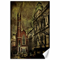 Dark Citiy Canvas 12  X 18  (unframed) by dflcprints