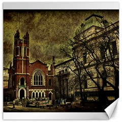Dark Citiy Canvas 20  X 20  (unframed) by dflcprints