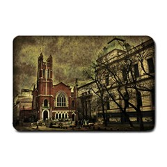 Dark Citiy Small Door Mat by dflcprints