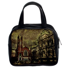 Dark Citiy Classic Handbag (two Sides) by dflcprints