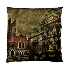 Dark Citiy Cushion Case (two Sided)  by dflcprints