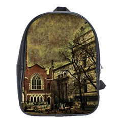 Dark Citiy School Bag (large) by dflcprints