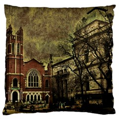 Dark Citiy Large Cushion Case (two Sided)  by dflcprints