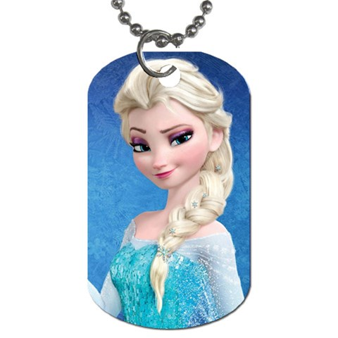 Elsa 2 By Jalpa   Dog Tag (one Side)   0lbl0m4fbbjm   Www Artscow Com Front