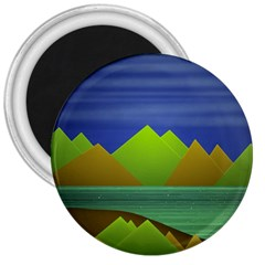 Landscape  Illustration 3  Button Magnet by dflcprints