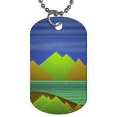 Landscape  Illustration Dog Tag (one Sided) by dflcprints