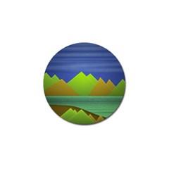 Landscape  Illustration Golf Ball Marker 4 Pack by dflcprints