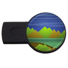 Landscape  Illustration 2gb Usb Flash Drive (round) by dflcprints