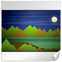 Landscape  Illustration Canvas 20  X 20  (unframed) by dflcprints