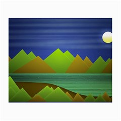 Landscape  Illustration Glasses Cloth (small, Two Sided) by dflcprints