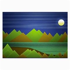 Landscape  Illustration Glasses Cloth (large, Two Sided) by dflcprints