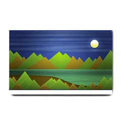 Landscape  Illustration Small Door Mat by dflcprints