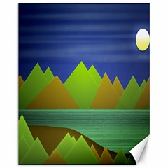 Landscape  Illustration Canvas 11  X 14  (unframed) by dflcprints