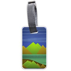 Landscape  Illustration Luggage Tag (two Sides)