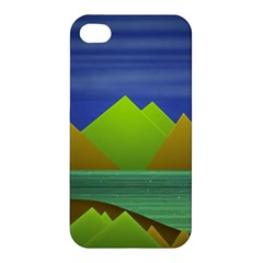 Landscape  Illustration Apple Iphone 4/4s Premium Hardshell Case
