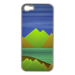 Landscape  Illustration Apple Iphone 5 Case (silver)