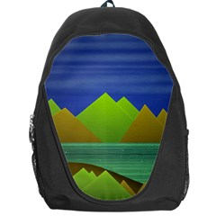 Landscape  Illustration Backpack Bag
