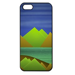 Landscape  Illustration Apple Iphone 5 Seamless Case (black)