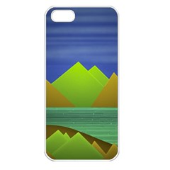 Landscape  Illustration Apple Iphone 5 Seamless Case (white) by dflcprints