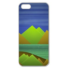 Landscape  Illustration Apple Seamless Iphone 5 Case (clear)