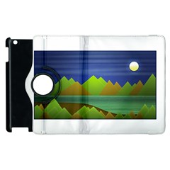 Landscape  Illustration Apple Ipad 3/4 Flip 360 Case by dflcprints