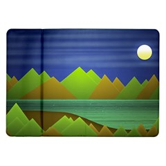 Landscape  Illustration Samsung Galaxy Tab 10 1  P7500 Flip Case