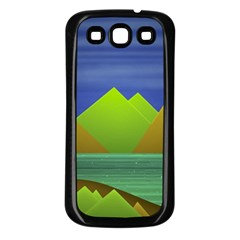 Landscape  Illustration Samsung Galaxy S3 Back Case (black) by dflcprints