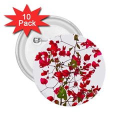 Red Petals 2 25  Button (10 Pack) by dflcprints