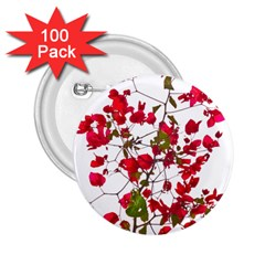 Red Petals 2 25  Button (100 Pack) by dflcprints